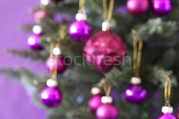 Homályos karácsonyfa rózsa kvarc golyók közelkép Stock fotó © Nelosa