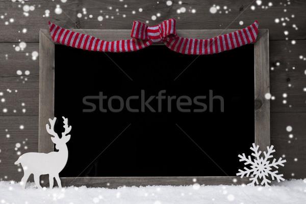 Рождества доске северный олень копия пространства снега Сток-фото © Nelosa