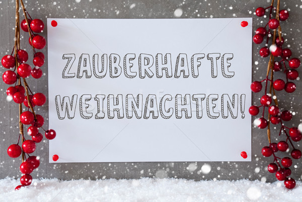 Label, Snowflakes, Decoration, Zauberhafte Weihnachten Means Magic Christmas Stock photo © Nelosa