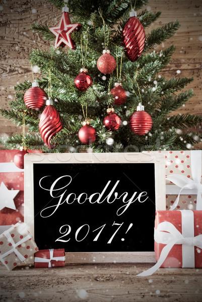 Nostalgisch kerstboom vaarwel seizoenen Stockfoto © Nelosa