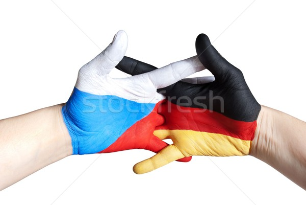 czech and german hands Stock photo © Nelosa