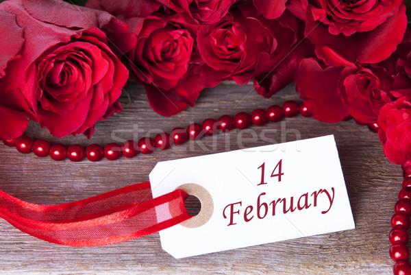 14 rosy etichetta fiori primavera rosa Foto d'archivio © Nelosa