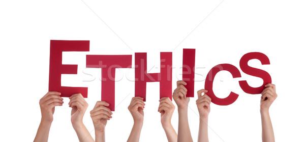 Handen ethiek veel Rood brieven Stockfoto © Nelosa