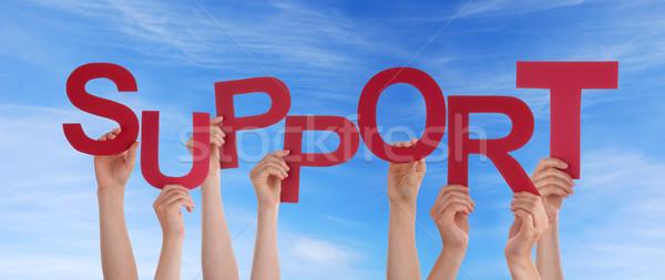 Mani sostegno cielo molti rosso Foto d'archivio © Nelosa