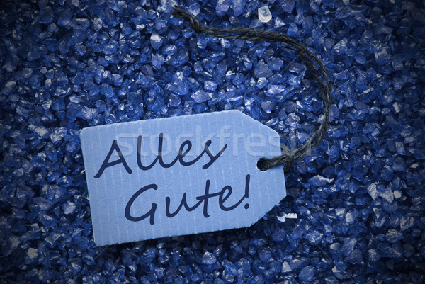 Purple Stones With Label Alles Gute Means Best Wishes Stock photo © Nelosa