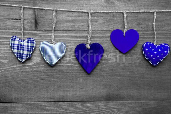 Loving Greeting Card With Blue Hearts Stock photo © Nelosa