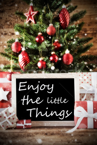 Christmas Tree With Quote Enjoy The Little Things Stock photo © Nelosa
