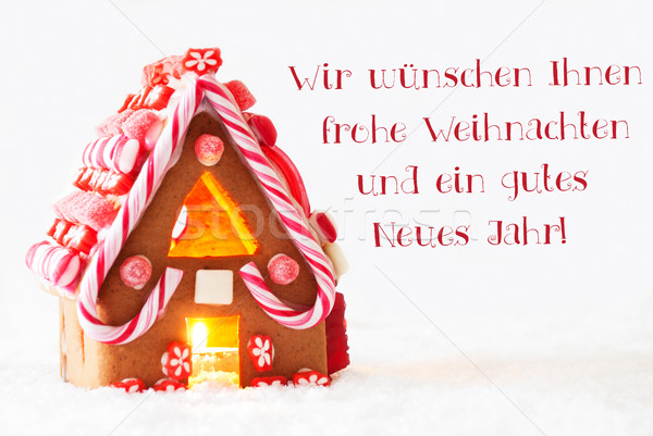 Gingerbread House, Weihnachten Neues Jahr Means Christmas New Year Stock photo © Nelosa