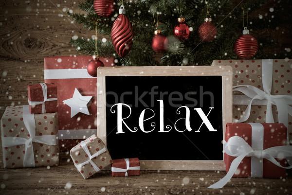 Сток-фото: ностальгический · рождественская · елка · расслабиться