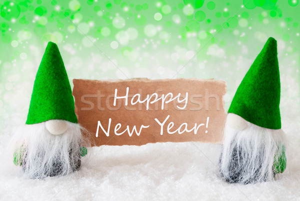 ストックフォト: 緑 · 自然 · カード · 文字 · 明けましておめでとうございます · クリスマス
