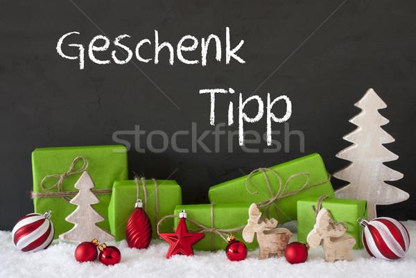 Navidad decoración cemento nieve regalo punta Foto stock © Nelosa
