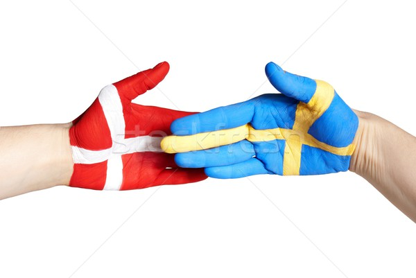 danish swedish handshake Stock photo © Nelosa