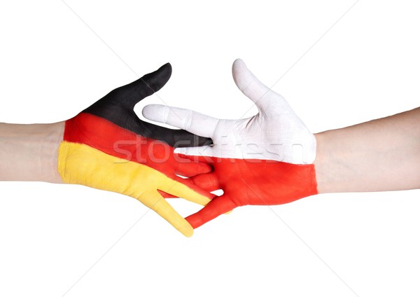 partnership between germany and poland Stock photo © Nelosa