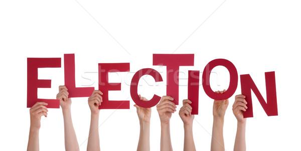 Hands Holding Election Stock photo © Nelosa