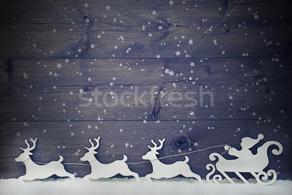 白 ヴィンテージ サンタクロース トナカイ 雪 コピースペース ストックフォト © Nelosa
