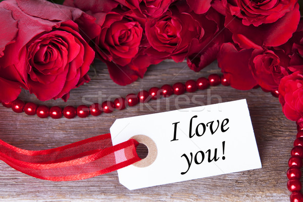 Label with I love You Stock photo © Nelosa