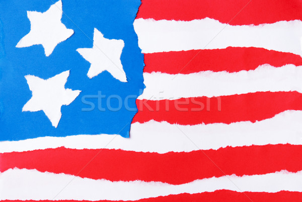 American Flag out of Paper Stock photo © Nelosa