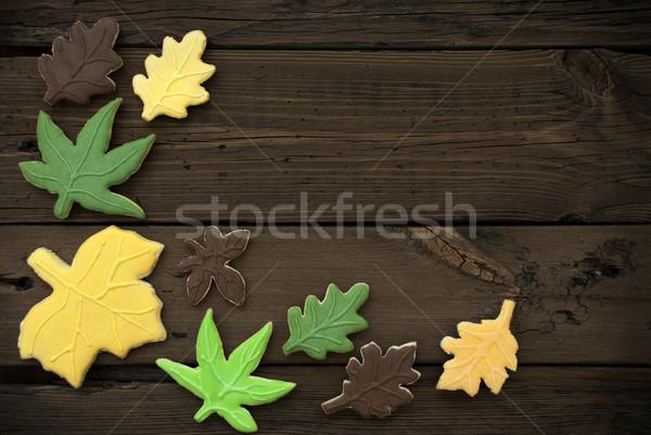 Autumn Cookies on Wooden Background II Stock photo © Nelosa