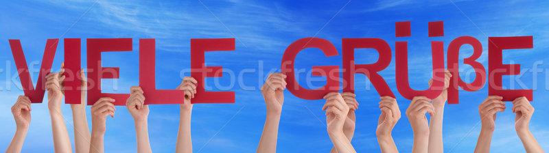 People German Viele Gruesse Means Regards Sky Stock photo © Nelosa