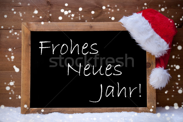 Christmas Card, Chalkboard, Neues Jahr Mean New Year, Snow Stock photo © Nelosa
