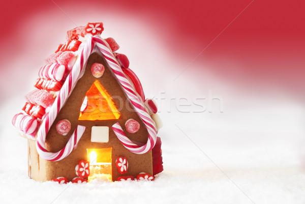 Mézeskalács ház piros copy space díszlet karácsony Stock fotó © Nelosa
