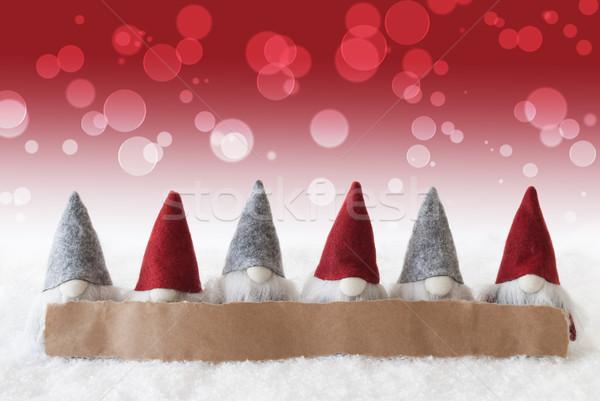Kırmızı bokeh bo etiket Filmi Noel Stok fotoğraf © Nelosa