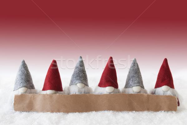 Kırmızı bo etiket Filmi Noel tebrik kartı Stok fotoğraf © Nelosa