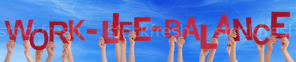 Stockfoto: Handen · Rood · woord · werk · leven