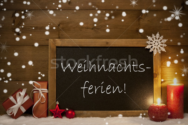 Board, Snowflakes, Weihnachtsferien Mean Christmas Holiday Stock photo © Nelosa