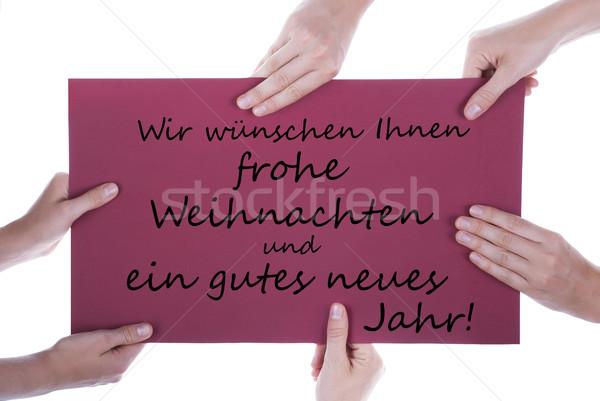 German Christmas and New Year Greetings Stock photo © Nelosa