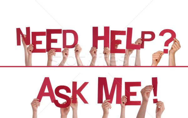 рук необходимость помочь просить мне Сток-фото © Nelosa