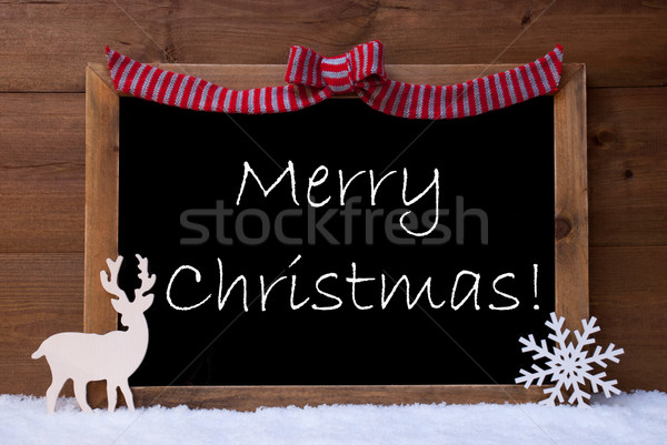 Card, Snowflake, Loop, Merry Christmas, Snow Stock photo © Nelosa