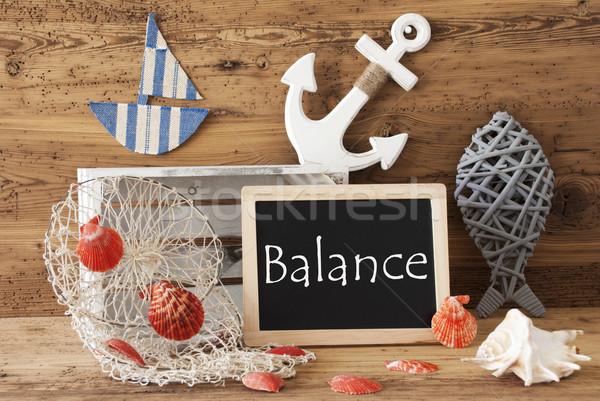 Tableau été décoration texte équilibre tableau noir Photo stock © Nelosa