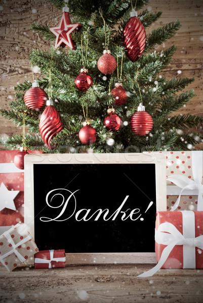 Nostalgisch kerstboom dank u seizoenen Stockfoto © Nelosa