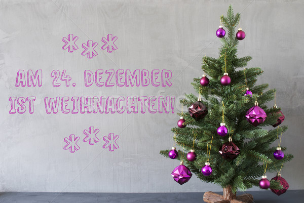 Tree, Cement Wall, Weihnachten Means Christmas Stock photo © Nelosa