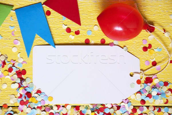 Party Label, Red Balloon, Copy Space Stock photo © Nelosa
