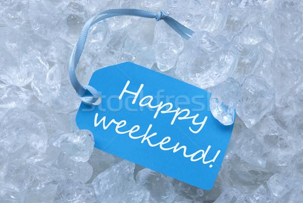 ラベル 氷 幸せ 週末 水色 青 ストックフォト © Nelosa
