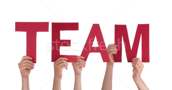 People Holding a Red Team Stock photo © Nelosa