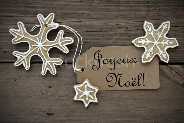 Ginger Bread Stars with Joyeux No Stock photo © Nelosa