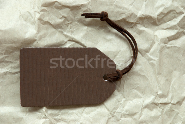 Brown Label With Copy Space Paper Background Stock photo © Nelosa