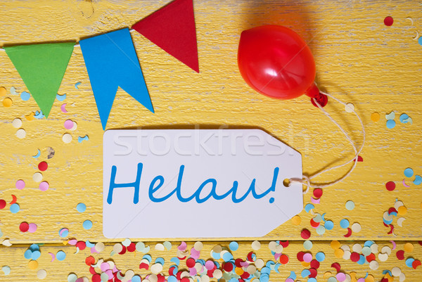 Stockfoto: Partij · label · confetti · ballon · gelukkig · carnaval