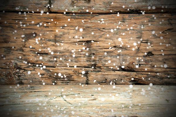 Bois texture neige bois mur Photo stock © Nelosa