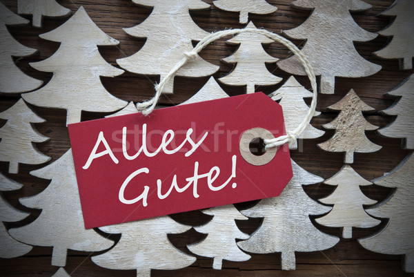 Red Christmas Label Alles Gute Means Best Wishes Stock photo © Nelosa