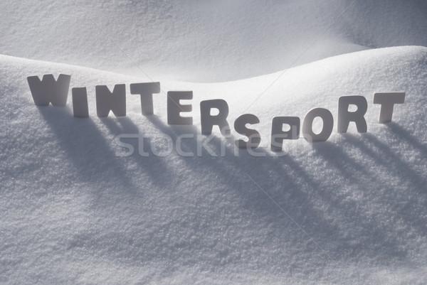 White Word Wintersport On Snow Stock photo © Nelosa