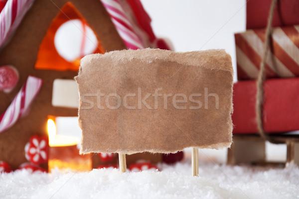 Mézeskalács ház copy space díszlet karácsony dekoráció Stock fotó © Nelosa