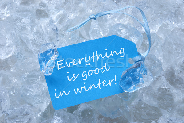 Label On Ice With Everything Is Good In Winter Stock photo © Nelosa