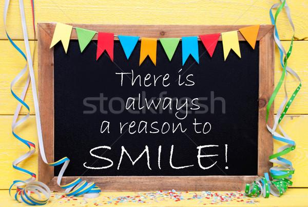 Quadro-negro citar sempre sorrir lousa inglês Foto stock © Nelosa