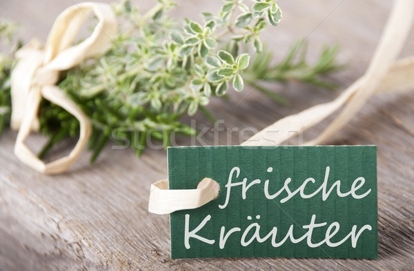 label with frische Kr Stock photo © Nelosa