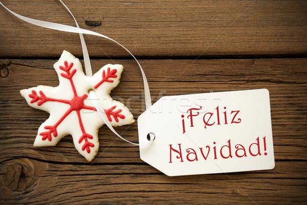 Feliz Navidad, Spanish Christmas Greetings Stock photo © Nelosa