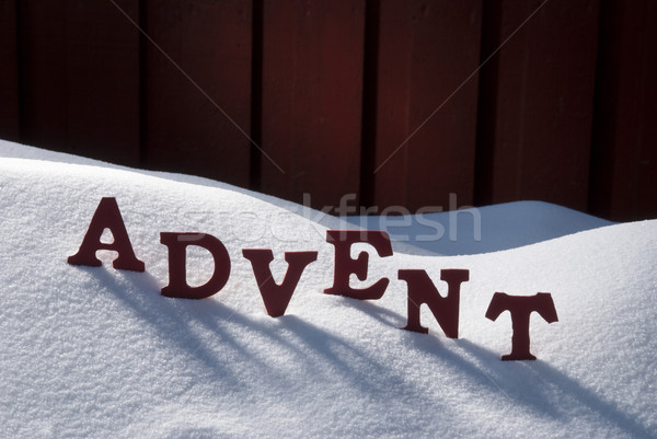 German Advent Means Christmas Time On Snow Stock photo © Nelosa